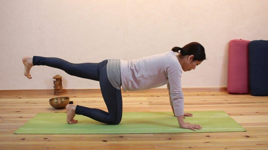 左足を上げる姿勢